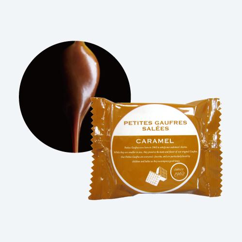 プティーゴーフル サレ3入(アーモンド・バニラ・キャラメル) −クリームに塩を使用した新しい風味