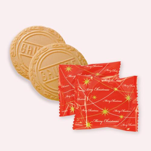 クリスマス ミニゴーフル 3入  −クリスマス パッケージのミニゴーフル