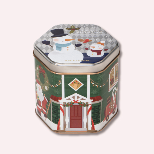 クリスマス ゴーフルクランチ10S  −クリスマス パッケージのゴーフル生地とチョコレートを混ぜ合わせたクランチ