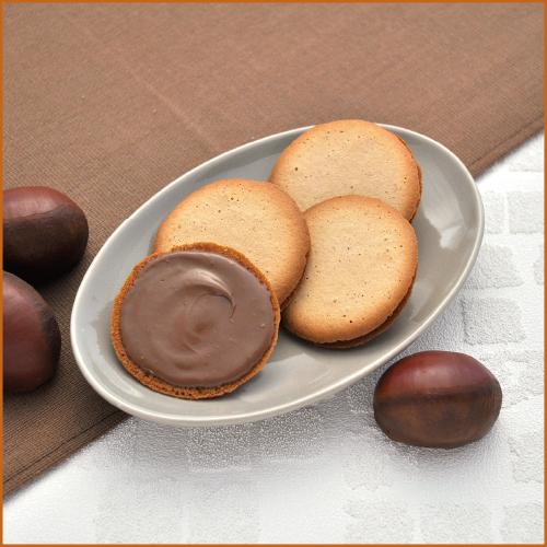 パレ・オ・ショコラ 栗6B −栗の甘みを活かしたラング・ド・シャーにチョコレートをサンド
