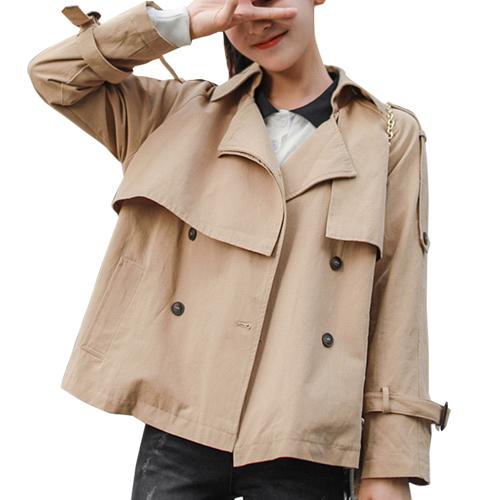 コート トレンチコート ショート丈 レディース きれいめ シンプル 春 カジュアル 大人 ベージュ 20slj11xyz