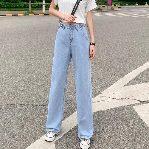パンツ デニム ワイドジーンズ レディース きれいめ カジュアル シンプル おしゃれ かわいい 大きいサイズ 20slb140xyz