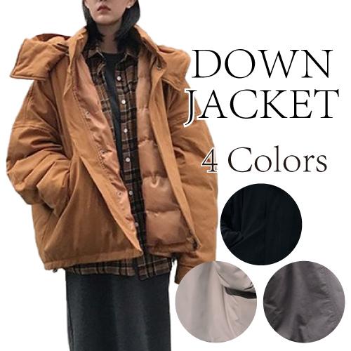 中綿ジャケット ショート丈 レディース ジッパー 無地 フード付き 中綿コート女子 おしゃれ 防寒 19alj118xyz