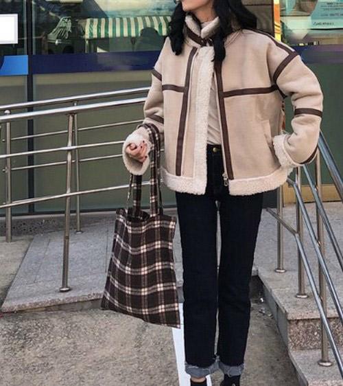 ボアジャケット ショート丈 レディース ジッパー ボアコート女子 おしゃれ かわいい 防寒 19alj119xyz