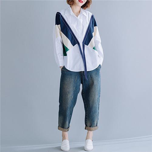シャツ トップス 襟付き オーバーサイズ デザイン 春夏 シンプル カジュアル レディース かわいい ホワイト 20slt221xyz