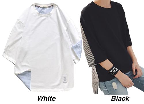 【送料無料】 Tシャツ 五分丈 メンズ  19smt38xyz