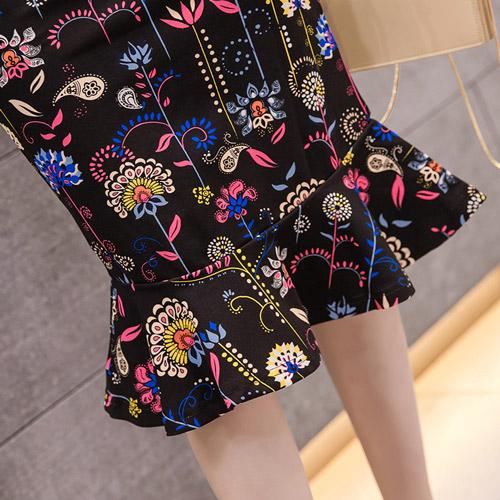 スカート レディース ひざ丈 シンプル カジュアル きれいめ 花柄  プリント マーメイド 20slb169xyz