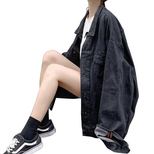 カジュアル ロングセクション デニム Gジャン  ゆるシルエット ジャケット レディース 2019 春秋 2カラー 3サイズ 19alj02xyz