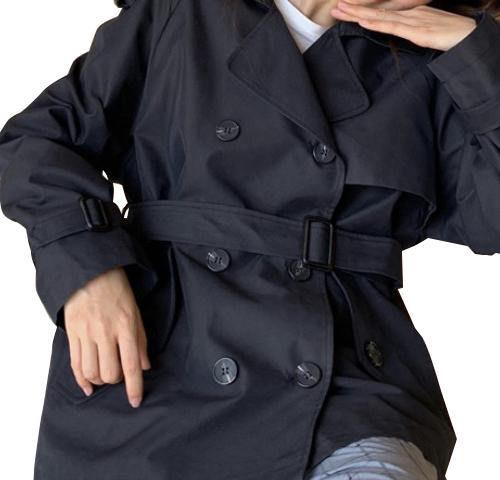 2019 新作 レディース 香港風味 長袖 トレンチコート 防風 ショート丈 2カラー 3サイズ 19alj05xyz