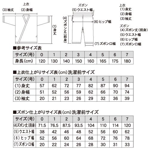 ビギナー用TCフルコンタクト晒空手衣(上下帯付)