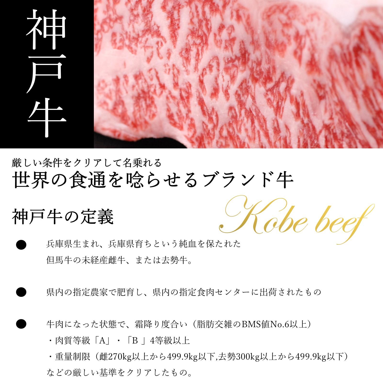 氷温熟成 神戸牛焼肉用 モモ肉150g×2
