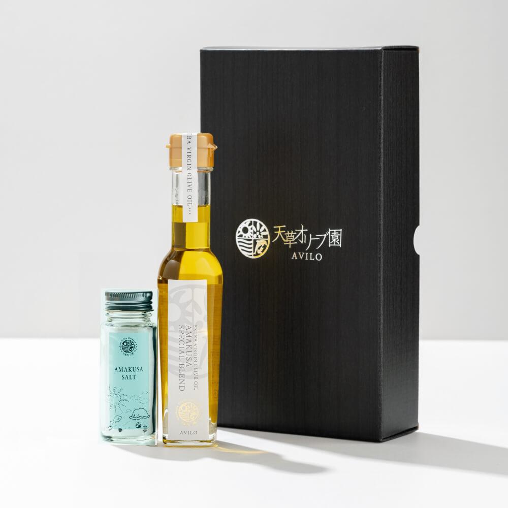 天草オリーブ園AVILO 天草スペシャルブレンドブラック&天草ソルトセット