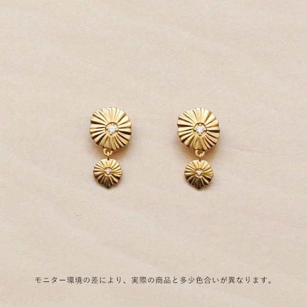 Enamel (エナメル) ピアス スパークリングシェル ゴールド 【メール便】【送料無料】