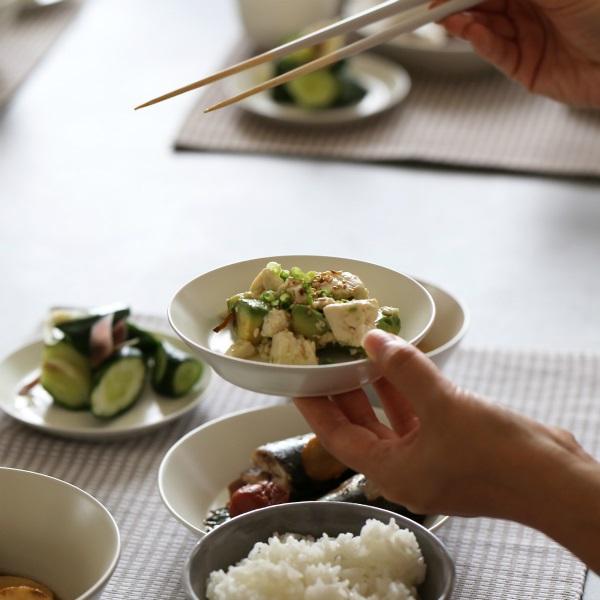 小田陶器<br>TOH/Re50 豆皿(深/Φ96mm×H18mm)クリーム<br>和洋食器/食器/皿