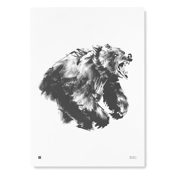 Teemu Jarvi (テーム・ヤルヴィ) ポスター 50×70cm ROARING BEAR (ヒグマ) 北欧/インテリア