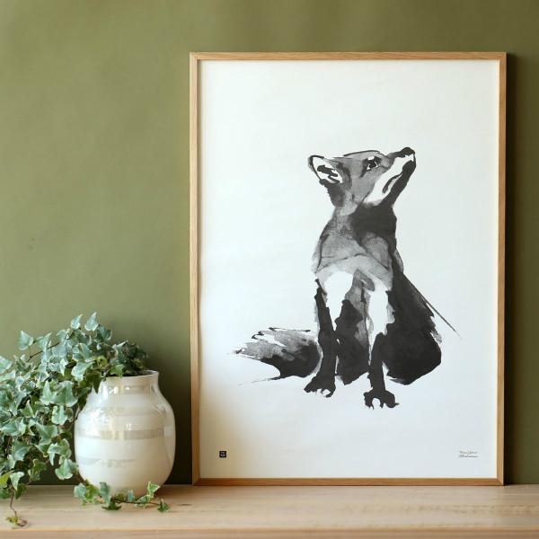 Teemu Jarvi (テーム・ヤルヴィ) ポスター 50×70cm FOX (アカギツネ) 北欧/インテリア