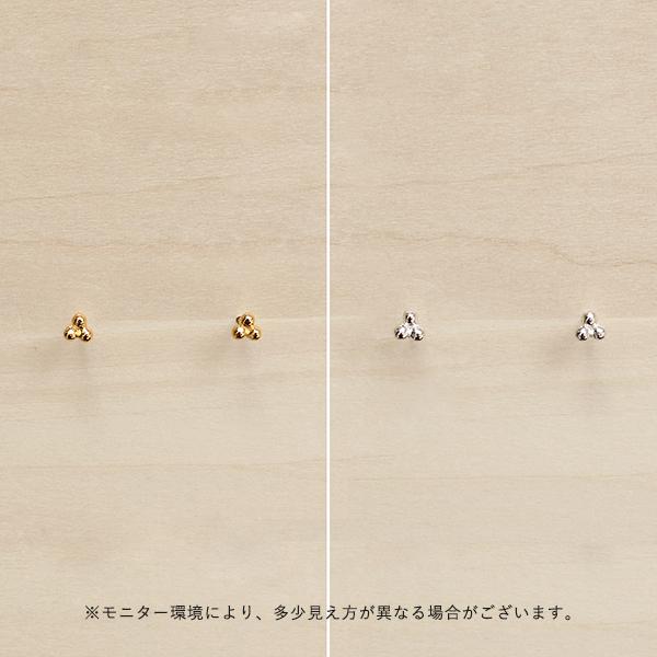 Enamel (エナメル) ピアス プチフラワー ゴールド/シルバー 【メール便】