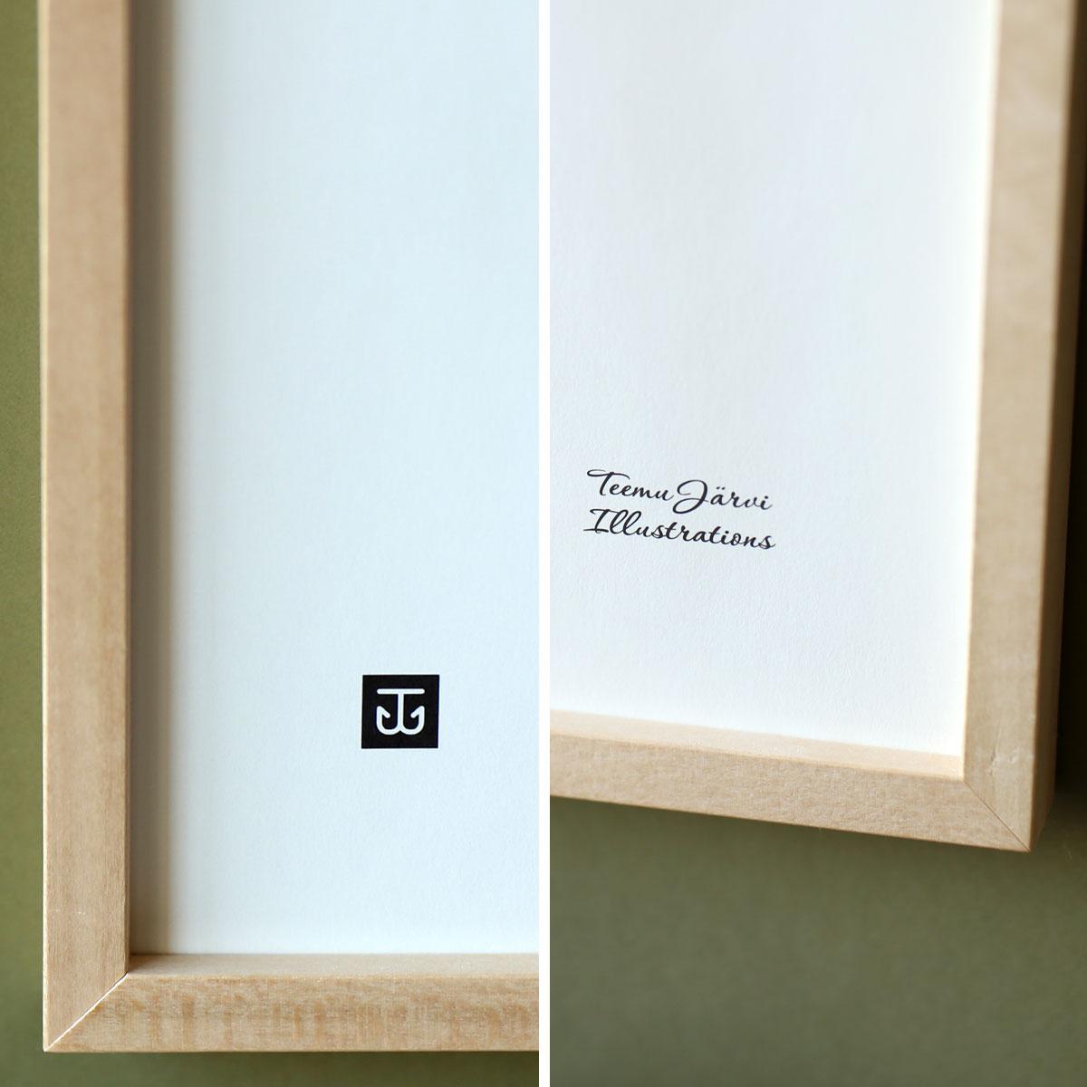 Teemu Jarvi (テーム・ヤルヴィ) ポスター 50×70cm OWL (ワシミミズク) 北欧/インテリア