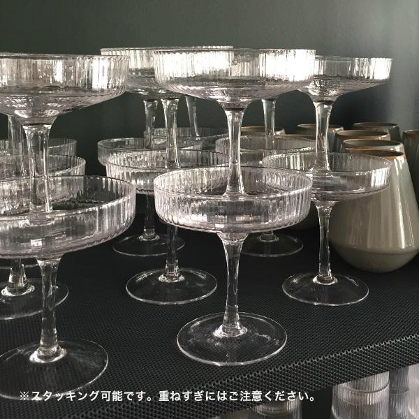 ferm LIVING (ファームリビング) Ripple Champagne Saucers (リップル シャンパングラス) 2個セット北欧/インテリア/日本正規代理店品