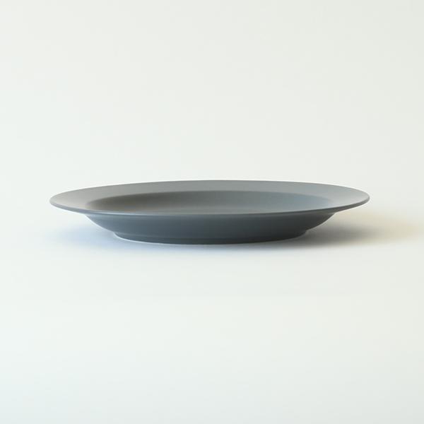 kura common (クラ コモン) Ena (エナ) リムプレート 24cm スレートグレー/マット 和洋食器/食器/皿