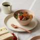 ideaco (イデアコ) usumono プレート 24cm サンドホワイト 食器/メラミン食器/アウトドア