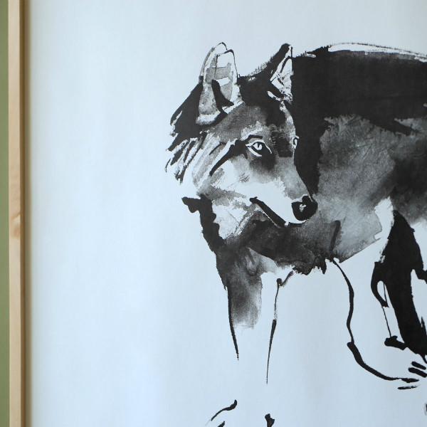 Teemu Jarvi (テーム・ヤルヴィ) ポスター 50×70cm WOLF (オオカミ) 北欧/インテリア