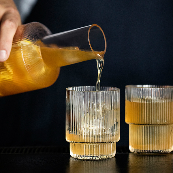 ferm LIVING (ファームリビング) Ripple Glasses (リップル グラス) 4個セット北欧/インテリア/日本正規代理店品