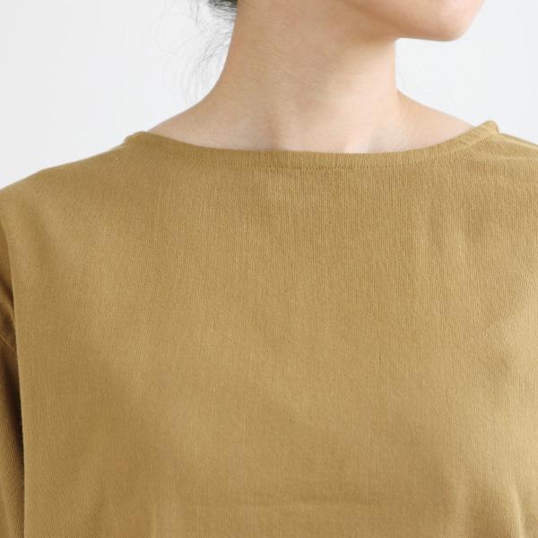 BIWACOTTON (ビワコットン) ボートネック Tシャツ(ロンT) ダークイエロー カットソー/ロングスリーブ/長袖シャツ