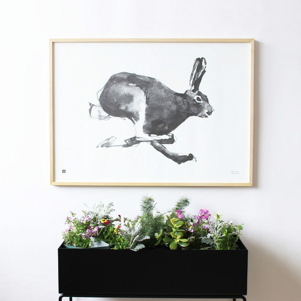 Teemu Jarvi (テーム・ヤルヴィ) ポスター 50×70cm HARE (野ウサギ) 北欧/インテリア