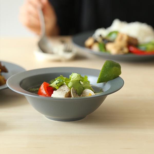 kura common (クラ コモン) Ena (エナ) リムプレート/スープボウル 17cm スレートグレー/マット 和洋食器/食器/皿