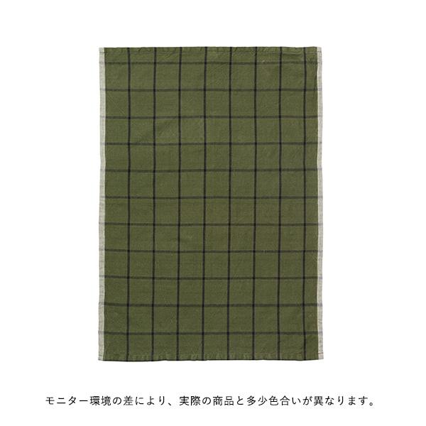 ferm LIVING (ファームリビング) Hale Tea Towels(ヘイル ティータオル) グリーン/ブラック 北欧/キッチンタオル/日本正規代理店品