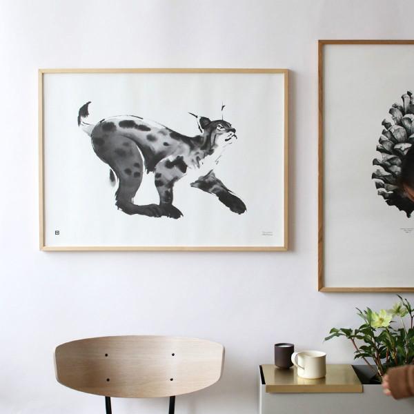 Teemu Jarvi (テーム・ヤルヴィ) ポスター 50×70cm LYNX (オオヤマネコ) 北欧/インテリア