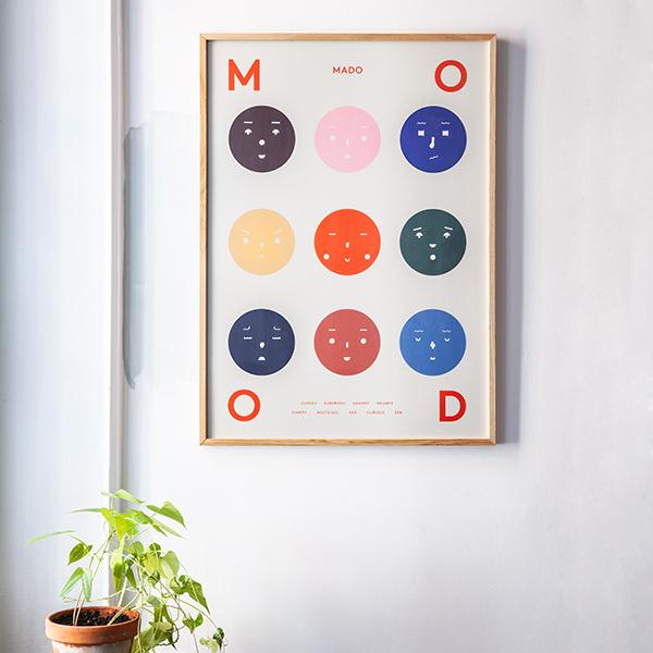 【受注発注】 MADO (マド) ポスター 50×70cm Feelings Cheeky/Zen/Chirpy/Four/Nine Moods【送料無料】