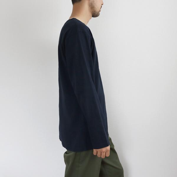 BIWACOTTON (ビワコットン) ボートネック Tシャツ(ロンT) ダークネイビー カットソー/ロングスリーブ/長袖シャツ