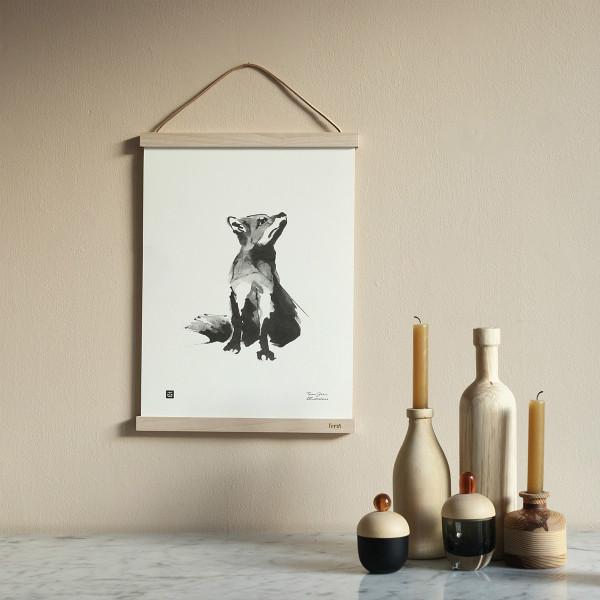 Teemu Jarvi (テーム・ヤルヴィ) ポスター 30×40cm FOX (アカギツネ) 北欧/インテリア