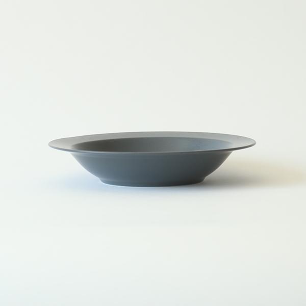 kura common (クラ コモン) Ena (エナ) リムプレート/ディープ/パスタプレート 21cm スレートグレー/マット 和洋食器/食器/皿