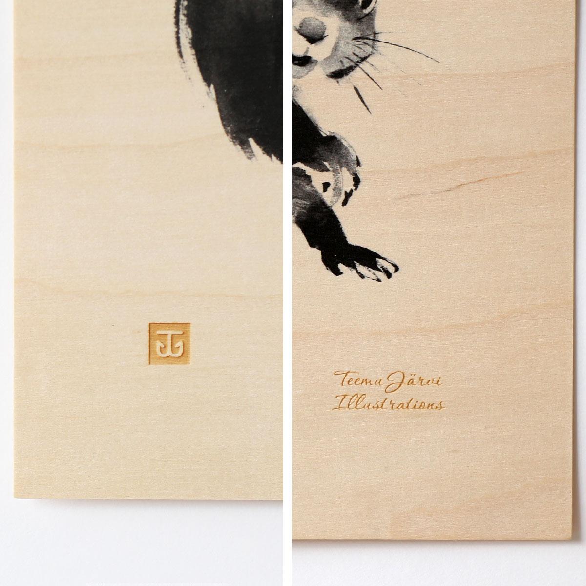 Teemu Jarvi (テーム・ヤルヴィ) ポスター 24×30cm Plywood (プライウッド) HARE (ウサギ) 北欧/インテリア