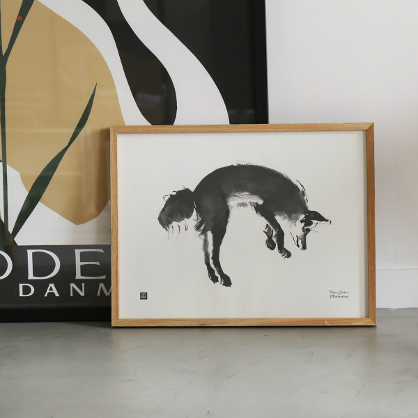 Teemu Jarvi (テーム・ヤルヴィ) ポスター 30×40cm LEAPING FOX (キツネ) 北欧/インテリア