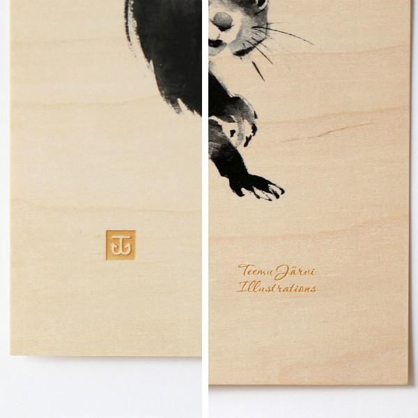 Teemu Jarvi (テーム・ヤルヴィ) ポスター 24×30cm Plywood (プライウッド) SQUIRREL (リス) 北欧/インテリア