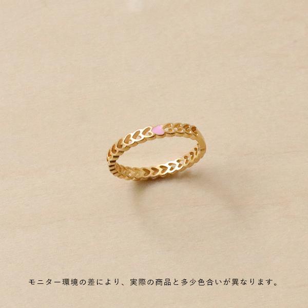 Enamel (エナメル) リング 52 ハート ゴールド【メール便】【送料無料】