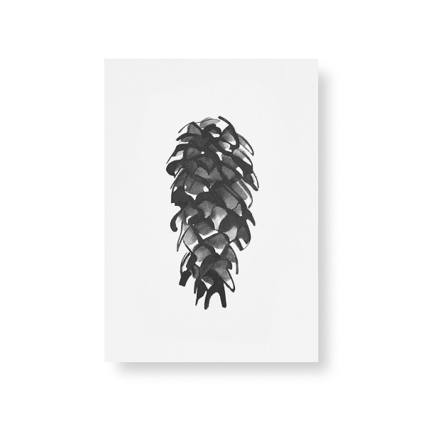 Teemu Jarvi (テーム・ヤルヴィ) ポスター A5 SPRUCE CONE (スプルースコーン) 北欧/インテリア【メール便】