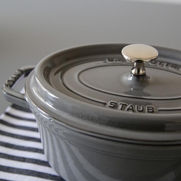 staub(ストウブ) ピコ・ココット オーバル ホーロー鍋27cm/3.2L グレー 正規輸入品/生涯保証付 【送料無料】