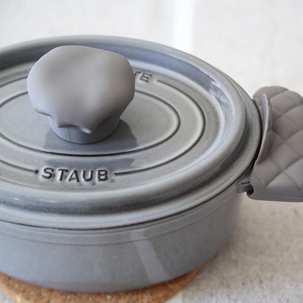 APYUI(アピュイ) キッチンシェフハット/鍋蓋つかみ グレー