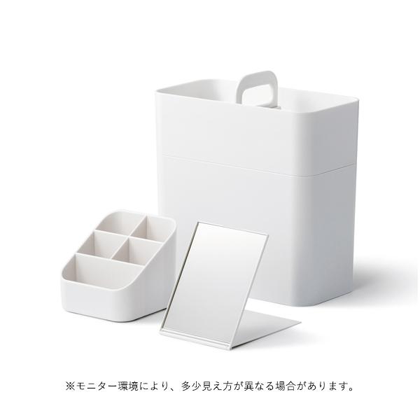 like-it (ライクイット)  Cosmetic Caddy (持ち運びができるメイクボックス)  ホワイト 収納/救急箱/ツールボックス/裁縫箱/にじいろ