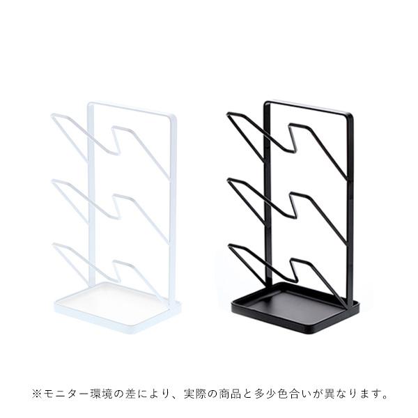 YAMAZAKI tower (タワー) Pot Lid Stand With Tray (トレー付き鍋蓋スタンド) ホワイト/ブラック キッチン/収納/雑貨