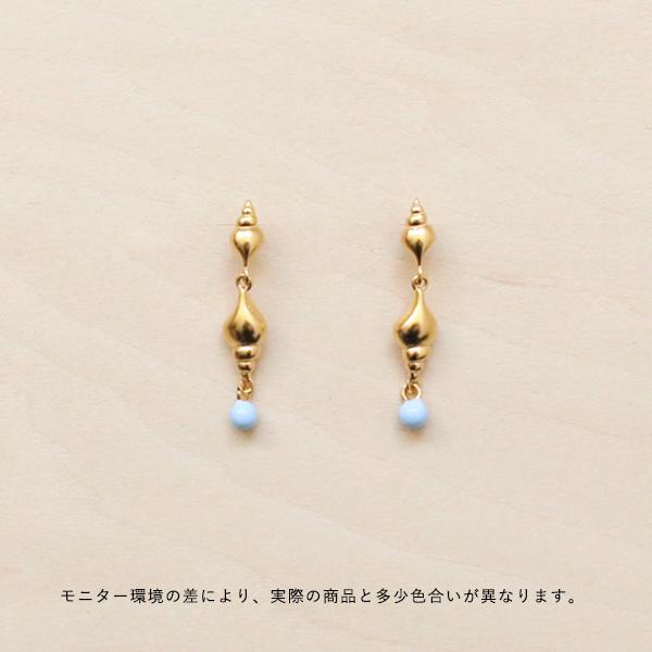 Enamel (エナメル) ピアス チューリップシェル ゴールド 【メール便】