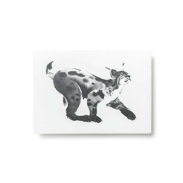 Teemu Jarvi (テーム・ヤルヴィ) ポストカード A6 LYNX (オオヤマネコ) 北欧/インテリア/ポスター【メール便】