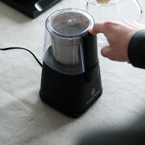 【受注発注】 Russell Hobbs (ラッセルホブス) コーヒーグラインダー ステンレス/マットブラック キッチン家電/コーヒーミル/粗挽き/中挽き/細挽き