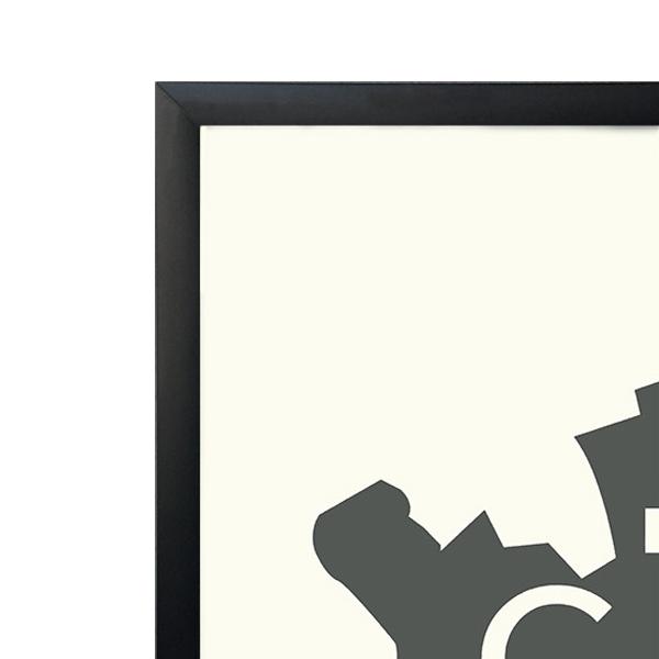 フレーム/額 50x70cm ブラック 北欧/インテリア【送料無料】