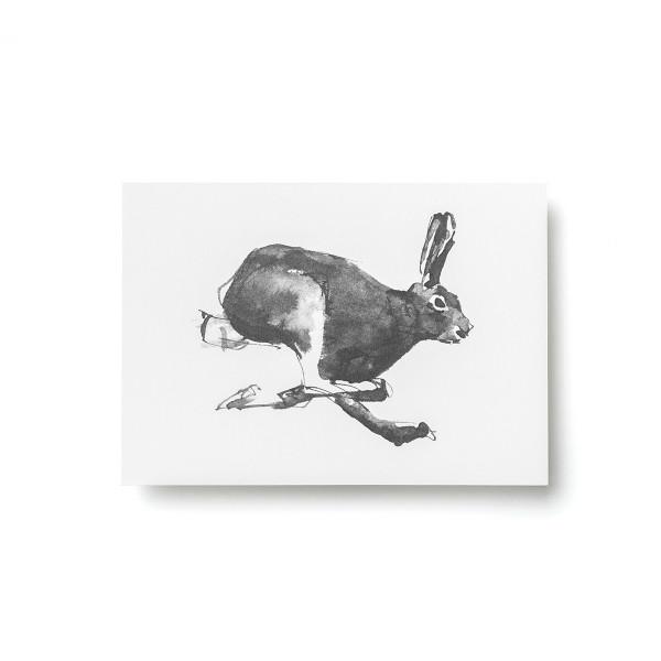Teemu Jarvi (テーム・ヤルヴィ) ポストカード A6 HARE (野ウサギ) 北欧/インテリア/ポスター【メール便】